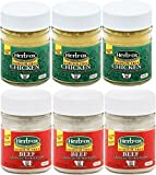 powder chicken broth - Sodium Free Beef and Chicken Broth Powder – Unsalted Bouillon Granules Mix Bundle of 6 Total