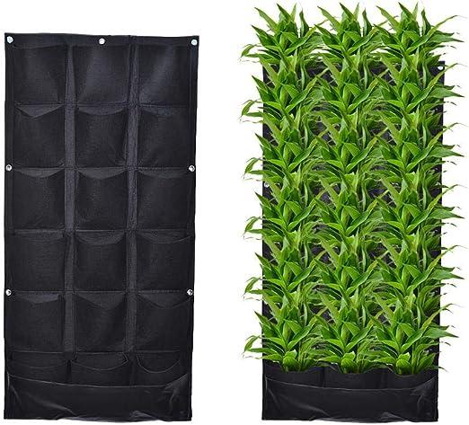 fervory Jardinera de jardín Colgante Vertical con 18 Bolsillos, Bolsas de Cultivo de jardín Impermeables para Patio Patio Patio: Amazon.es: Hogar