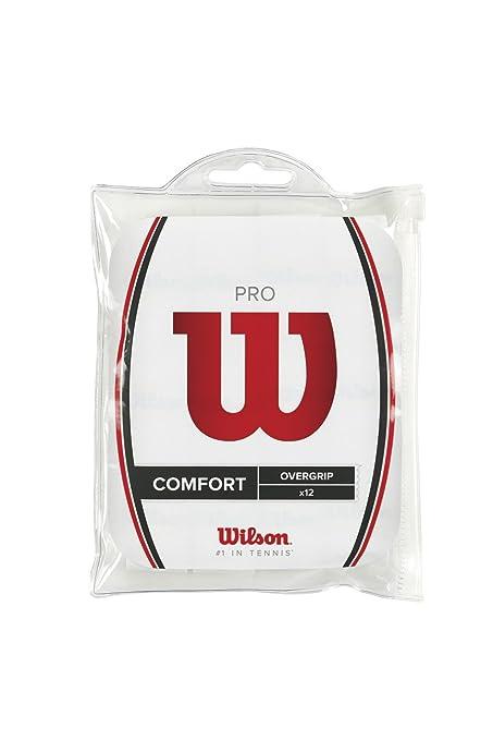 Wilson Pro Overgrip - Mango de raqueta, color blanco: Amazon.es: Deportes y aire libre