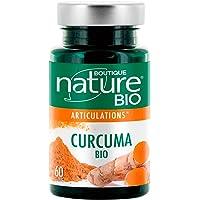 Boutique Nature - Complément Alimentaire - Curcuma Poivre Noir BIO - 60 Gélules Végétales - Pour un bon Fonctionnement des Articulations