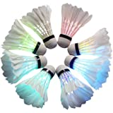 BLUBOON(TM) Badminton Set LED Shuttlecock Feather Super Bouncy Light Badminton Birdies