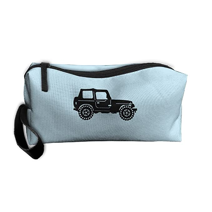 Best Quality Off Road Tires >> Amazon Com Jewelry Bag Women Cosmetic Case Zipper Jeep Off