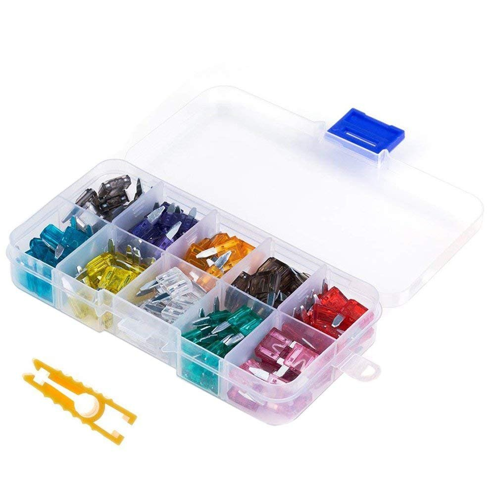 120pc Assorted Auto Car Truck Standard Blade Fuse Assortment with Fuse Puller Tool 2A 3A 5A 7.5A 10A 15A 20A 25A 30A 35A-ATC/APR/ATO/ATS Fuse Assortment Kit for Car, Boat, RV,SUV,Truck KisSealed 101
