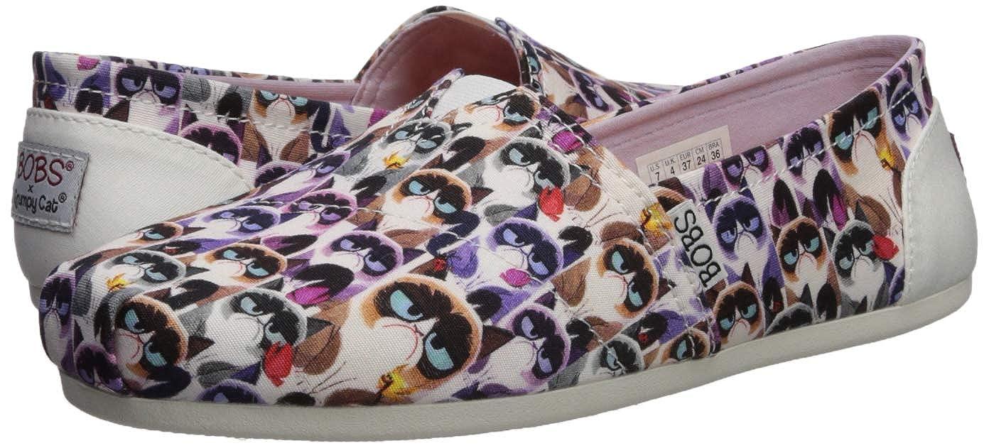 23d9af335ccc9 Amazon.com | Skechers BOBS Women's Bobs Plush-Grumpy Cat Slip on Ballet  Flat | Shoes