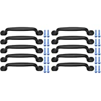 Yuhtech Kast Deurgreep, 10 Pack Zwart Aluminium Kast Deur Lade Handgrepen Boog Vorm Pull Handvat voor Keuken Slaapkamer…