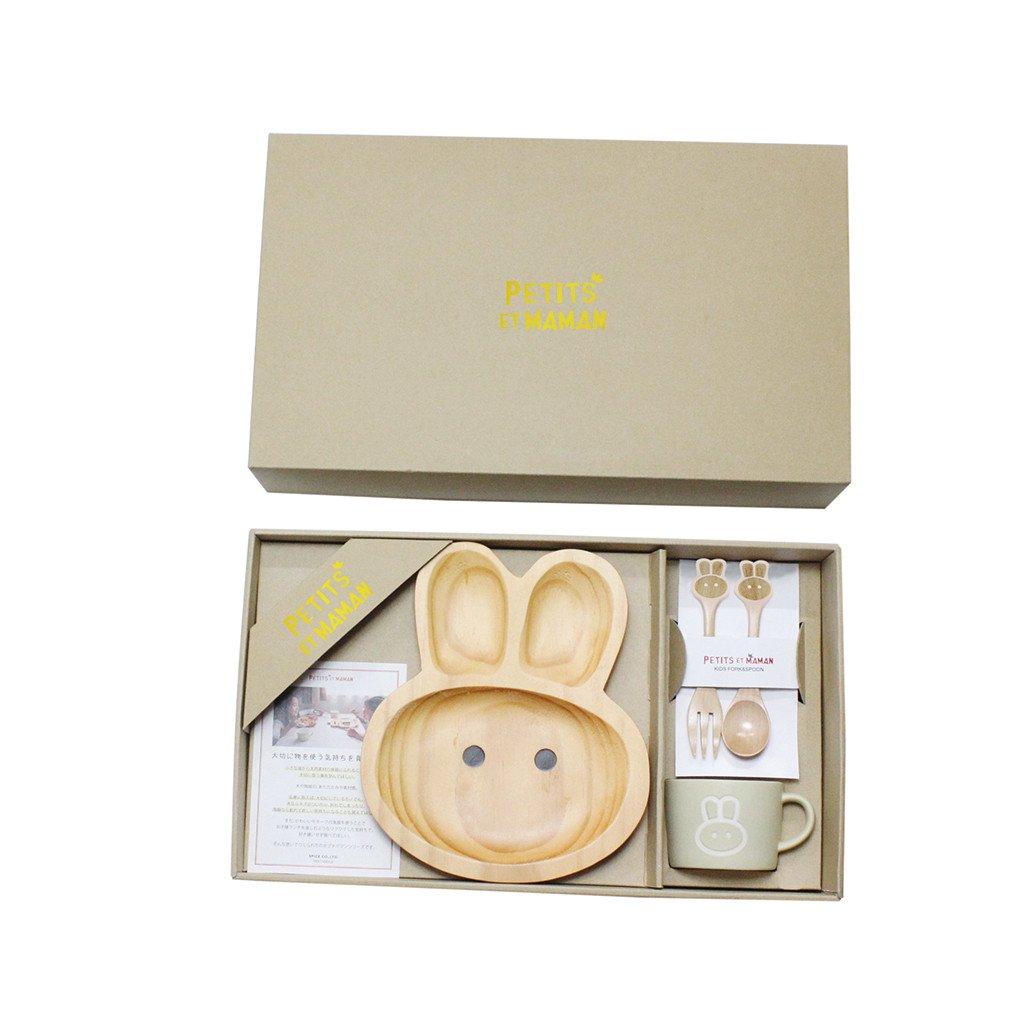 一番の Petits ブラウン Rabbit Et Maman Kids木製プレート Wooden ブラウン SFPS1010 Wooden - Rabbit B07C11YZJW, LABCLIP online store:75493296 --- a0267596.xsph.ru