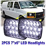 7x6/5x7 LED Headlight Pair Sealed Hi/Lo Beam for 1996-2017 Chevy Express Cargo Van 3500 – 6000K 45W Super White Light – 2 Year Warranty
