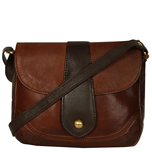 Bolla Elm Womens Messenger Handbag One Size Cognac Dark brown ... 1305764910904