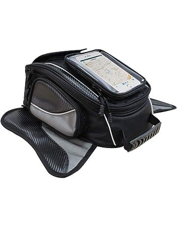 f949d4327b1 Bolsa de Tanque de Motocicleta - Impermeable Oxford Saddle Negro Bolsas  para depósito Motocicleta - Universal