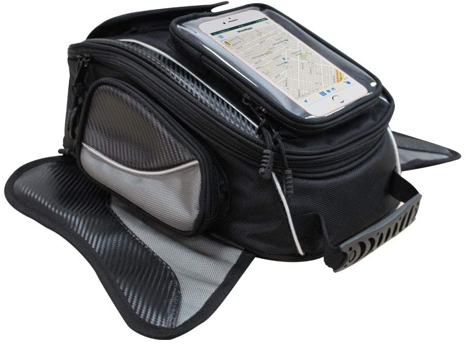 Bolsa de Tanque de Motocicleta - Oxford Saddle Negro Bolsas para depósito Motocicleta - Universal Fuerte Bolsa magnética para Honda Yamaha Suzuki Kawasaki Harley - Dracarys