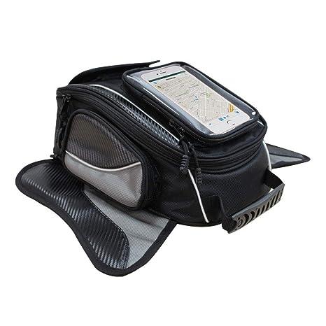 Bolsa de Tanque de Motocicleta - Impermeable Oxford Saddle Negro Bolsas para depósito Motocicleta - Universal Fuerte Bolsa magnética para Honda Yamaha ...