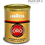 Lavazza Qualita Oro Ground Coffee Blend, Medium Roast, 8.8-Ounce Cans (Pack of 6)