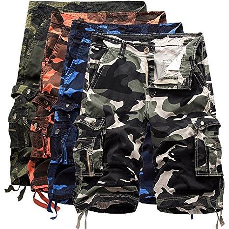 Puedo Mens Comouflage Cargo Shorts Cargo Camo Shorts Summer Casual Cotton Blend Shorts for Men