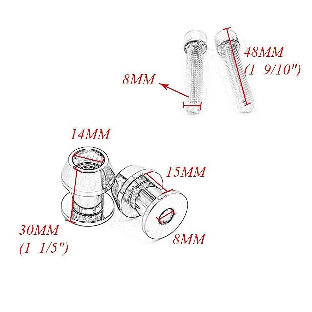 Alpha Rider 10MM CNC Billet Swing Arm Spools Sliders Stand Screws for Kawasaki ZX1200 Ninja ZX-12R 2000 2001 2002 2003 2004 2005 Red
