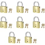 Harrison A-1-0001_PK 8 Brass 3 Levers Padlock with 2 Keys (Pack of 8)