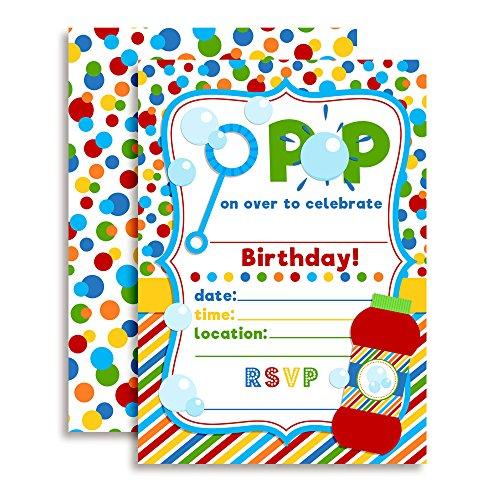 Bubble Birthday Party Invitations, 20 5
