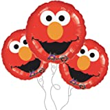 "Elmo 18"" Mylar Balloon 3pk"