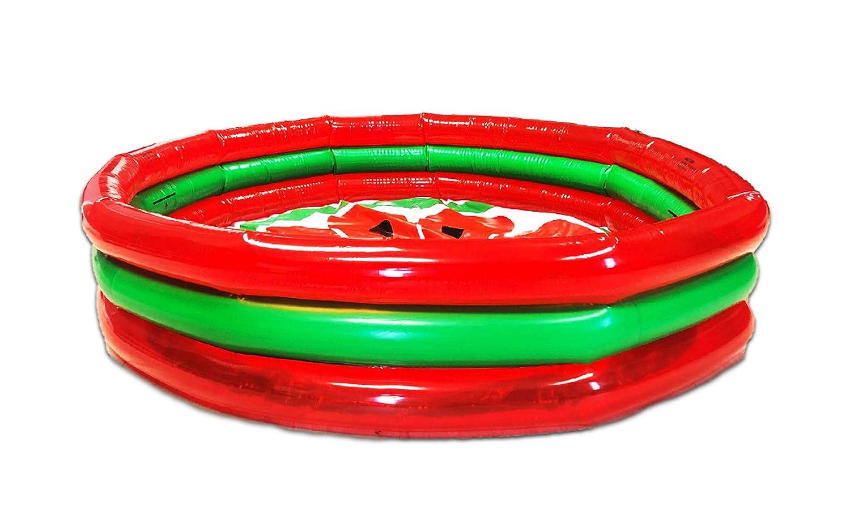 Amazon.com: Piscina de 3 anillas estilo sandía | Juegos ...