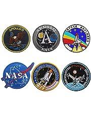Nasa patches, 6 stuks, NASA patches, combinatie klittenband, geborduurde patches voor rugzakken, caps, hoeden en tassen