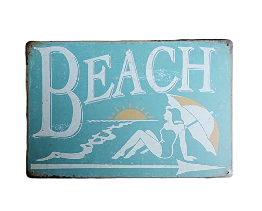 Chytaii. Placa De Arte Beach Cartel De Chapa Vintage ...