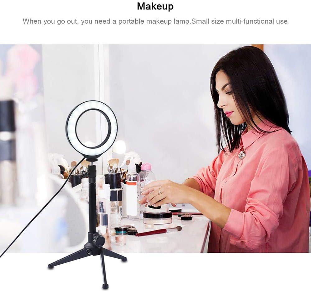 6.2 Inch//16Cm Led Ring Light Vlogging Video Kits Live Broadcast Dual Phone Bracket,A Extension Rod Tripod Mount