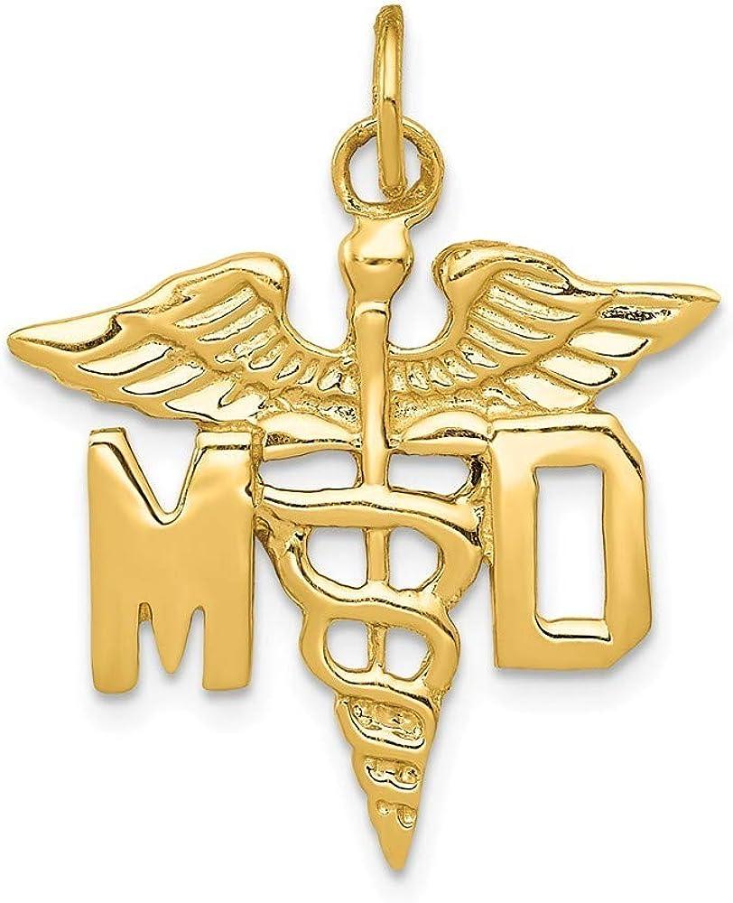 14ct médico pendants tamaño grande para pulsera - mide 23 x 24 mm - JewelryWeb