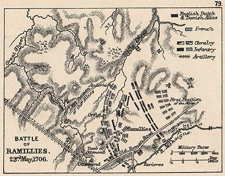 Guerra de sucesión española: batalla de ramilies 23 mayo 1706. Pequeño, 1907 mapa: Amazon.es: Hogar