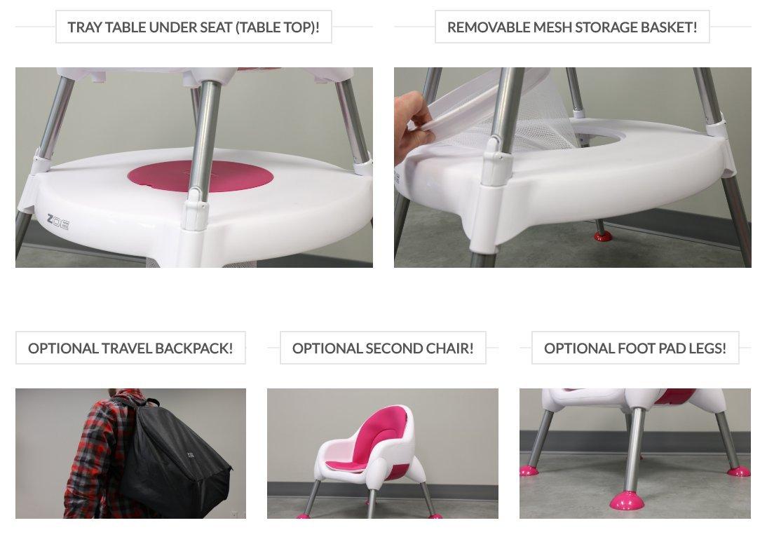 ZOE High Chair (5-in-1 High Chair, Aqua)