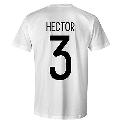 235ecf25a63b Jonas Hector 3 Germany International Kids Football T-Shirt White Black