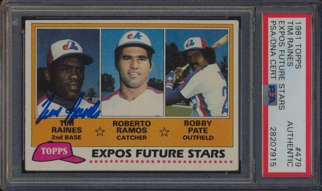 479 Tim Rainesramospate Expos Rookie Hof 1981 Topps Baseball