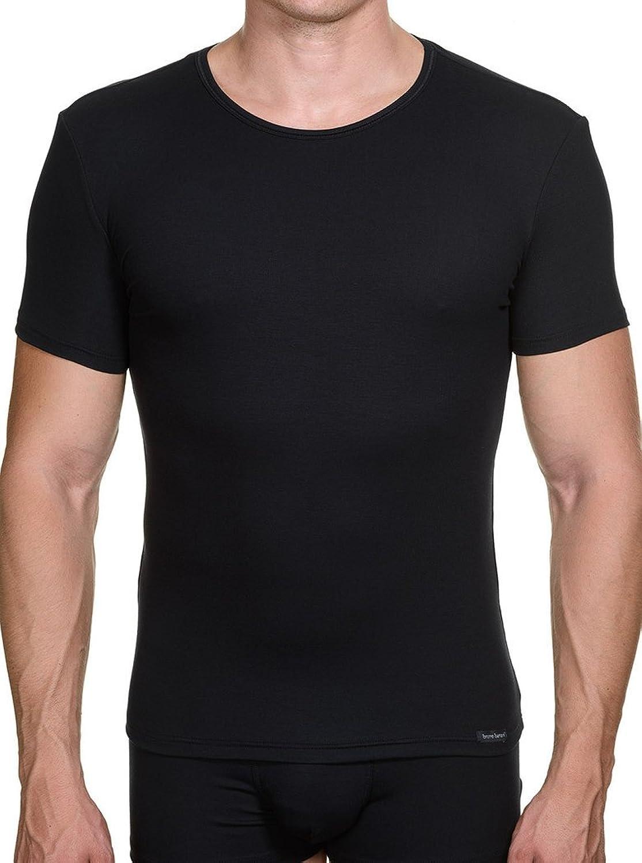 Bruno Banani Perfect Line Crew Neck Shirt Doppelpack - Schwarz und Weiß S bis 2 XL