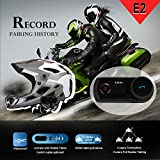 Ocamo Wireless IP65 Waterproof Motorcycle Skiing Climbing Hemlet Bluetooth Intercom with Wired Detachable Microphone and Stereo HD Speaker Black