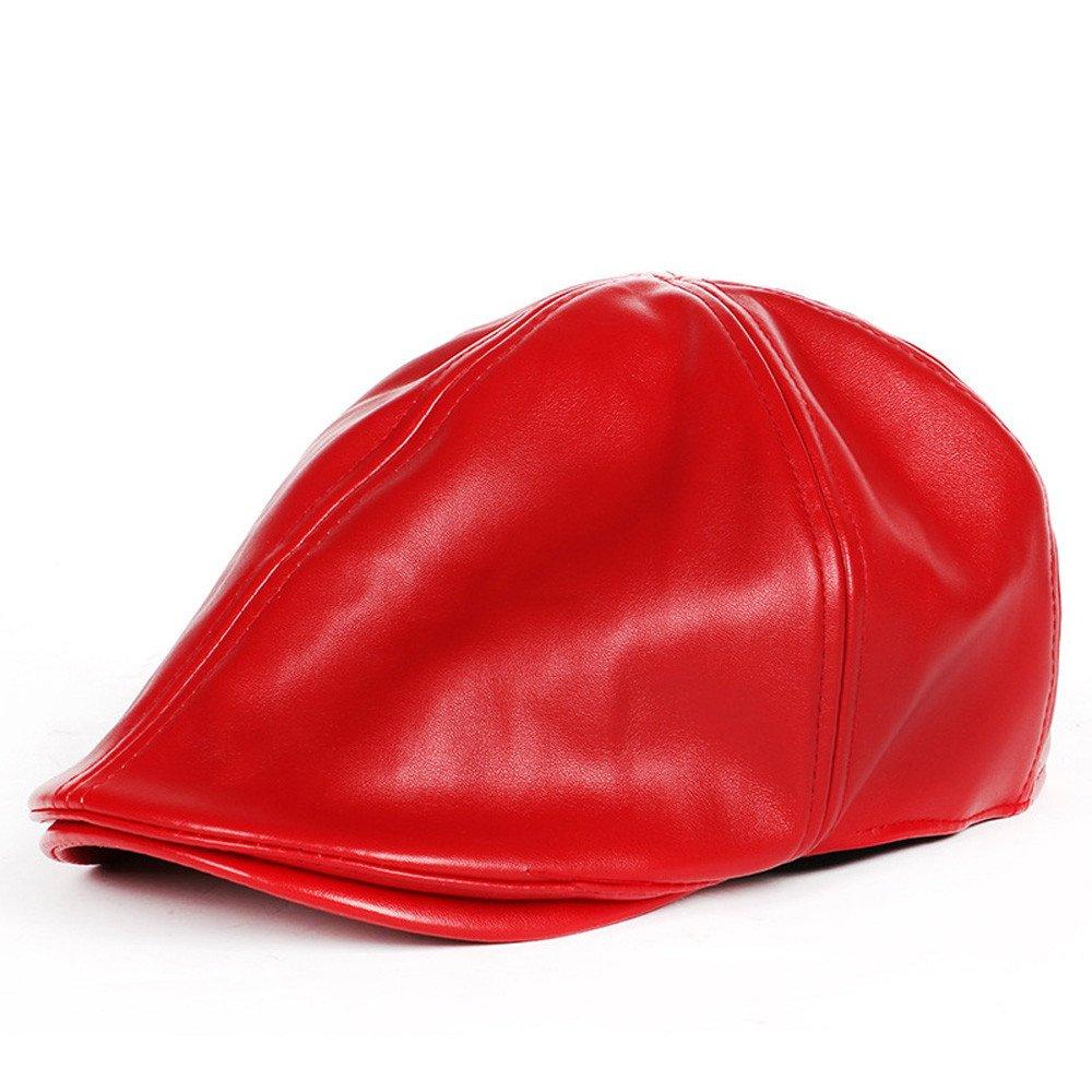 Fashion in Londony /♥‿/♥ Unisex Mens Women Vintage Leather Beret Cap Flat Cap Peaked Hat Newsboy Stretch
