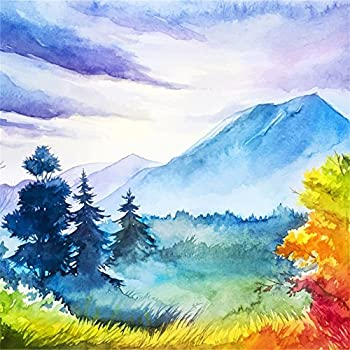 Amazon.com : LFEEY 8x8ft Watercolor Autumn Landscape