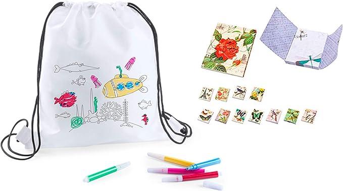 DISOK Lote 20 Bolsas para Colorear Ideal para Regalos de cumplea/ños colegios comuniones guarder/ías y Celebraciones Bolsas Merienda y Almuerzos