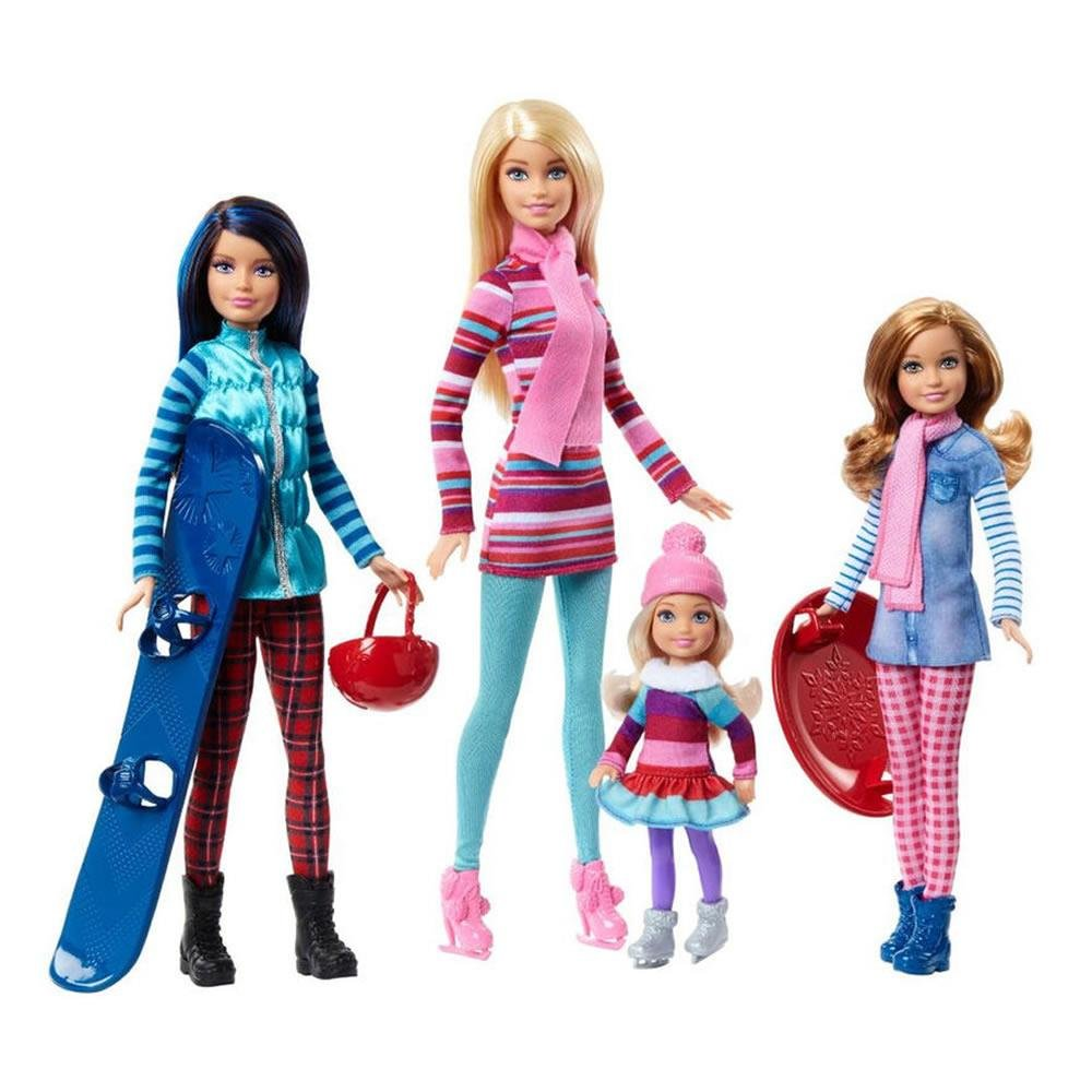Barbie Sisters Winter Getaway Fashion Dolls Mattel FDR56