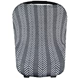 Copper Pearl TM multi-use 5-in-1 cover can be used as a car seat cover, nursing cover, shopping cart cover, high chair cover, and infinity scarf. This versatile cover is made of a high quality, stretchy, black and white rayon blend fabric. Th...