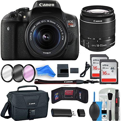 Canon Starter Kit (Canon Rebel T6i Digital SLR Camera DigitalAndMore Creator ESSENTIAL Starter Bundle)