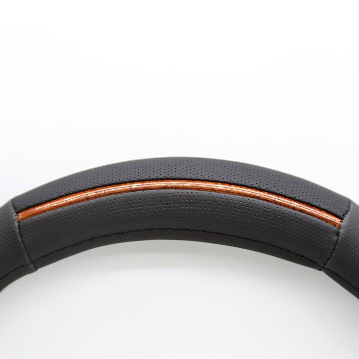 ZYY 571815BW Black Woodengrain Car Steering Wheel Cover
