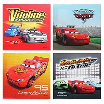Disney CARS Bilder 4er Set 25x25 mit Lightning McQueen Bilder