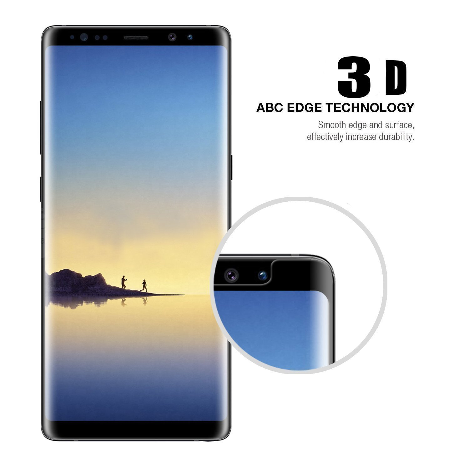 Amazon [2 Pack] Galaxy Note 8 Tempered Glass Screen Protector Loopilops [HD Clear][Anti Bubble][Anti Scratch][Anti Fingerprint] Tempered Glass Screen