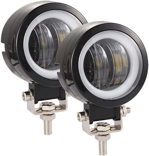 Muium Creative Wind Powered 8 LED Light Waterproof Fog Headlight Daytime Running Light Warning Auto Head Lamp Energy 2 x White Lights 2x Car Motorcycle LED Light