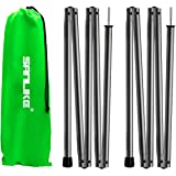 SAN LIKE Camping Tarp Poles Set of 2 - Elastic Rope Aluminum Alloy Rods for Tents and Tarps, Lightweight Replacement Tent Pol