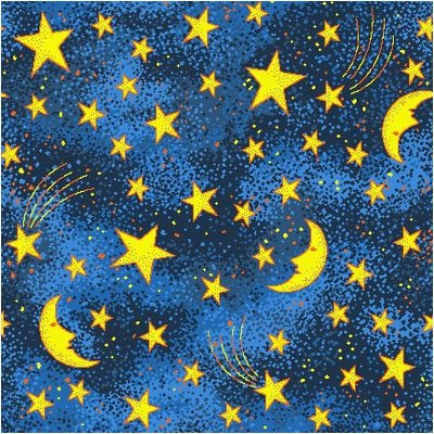 Joy Carpets Fluorescent Kaleidoscope Stars and Moons Novelty Rug 12' x 12'