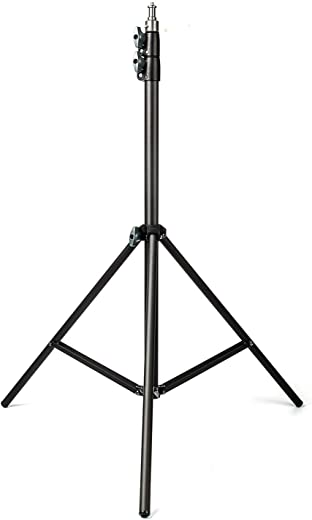 EACHSHOT 2M Light Stand 78.7in Tripod With 1/4 Screw Head Maximum Bearing Weight 5KG For ES180 ES240 and other Photo Studio Softbox Video Flash Umbrellas Reflector Lighting