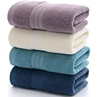 Anlye Cotton Hand Towels Set-(4-Pack,14 x 30 inches) Multipurpose Use for Bath, Hand, Face, Gym and Spa (Purple-Ivory-Blue-Navy)