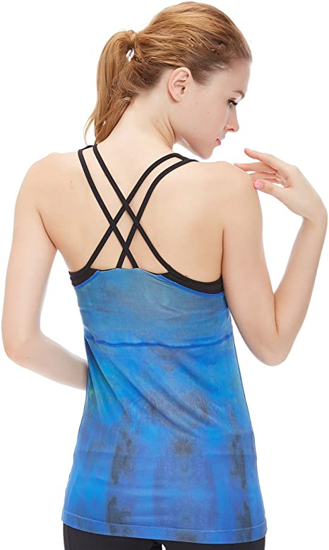 Amazon.com: Camiseta para mujer, sin mangas, racerback, con ...