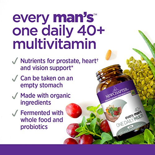 New Chapter Every Man's One Daily 40+, Men's Multivitamin Fermented with Probiotics + Saw Palmetto + B Vitamins + Vitamin D3 + Organic Non-GMO Ingredients - 96 ct (Packaging May Vary) by New Chapter (Image #8)