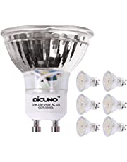 DiCUNO GU10 LED Bulb 5W 500LM Warm White 3000K 220V Non-dimmable Energy Saving Lamp Chandelier Pack of 6