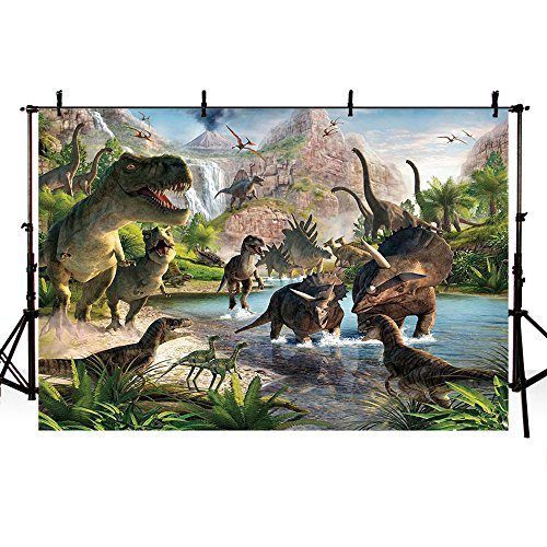 MEHOFOTO Photo Background Children Dinosaur Theme Party Backdrop for Photography 7x5ft by MEHOFOTO